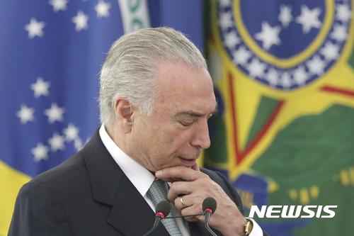 """브라질 오데브렛 前CEO """"테메르 당에 4000만 달러 뇌물"""" 진술"""