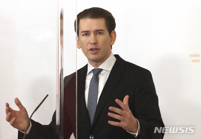 """오스트리아 총리 """"EU에 코로나 녹색 여권 도입 제안"""""""